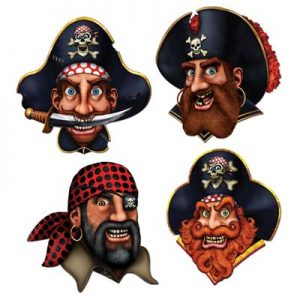 Pirate crew cut outs