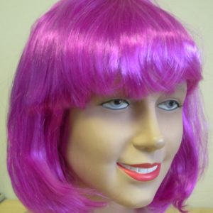 Bob wig purple with fringe