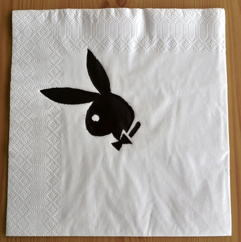 Bunny girl napkins