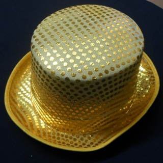 Gold top hat