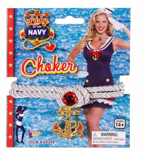 Lady in the navy chker