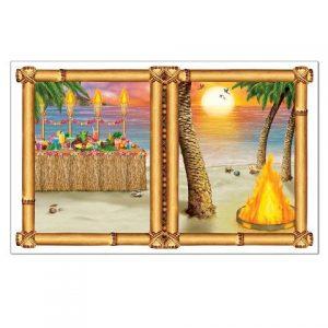 Hawaiian themed decorations