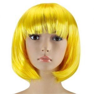 Yellow bob wig