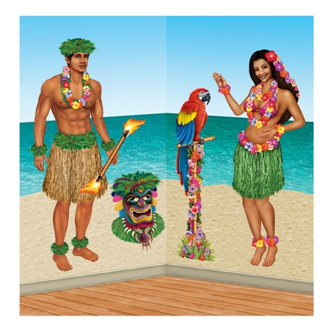 Hawaiian themed decor