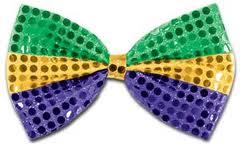 Sequin Mardi Gras bowtie