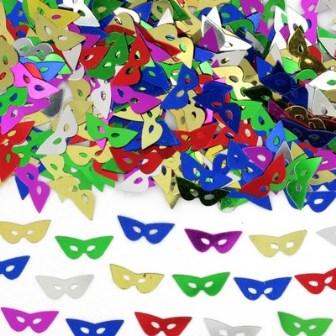 Mardi gras mask confetti
