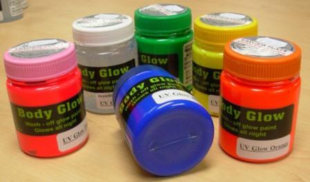 Body glow UV paint