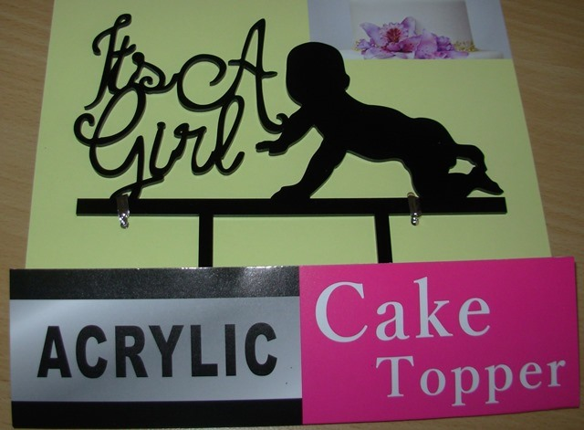 Baby shower cake decor