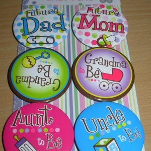 Family badges for baby showers