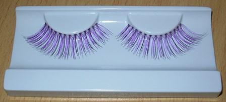False eyelashes purple