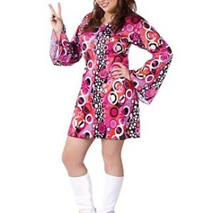 Ladies plus size hippie costume