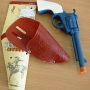 Cowboy gun and holster