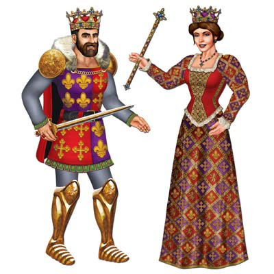 Jointed king & queen cut outs