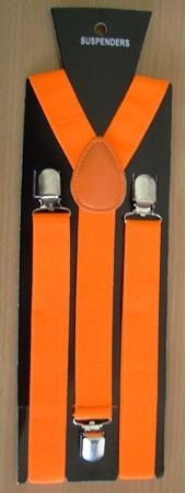 Neon orange braces