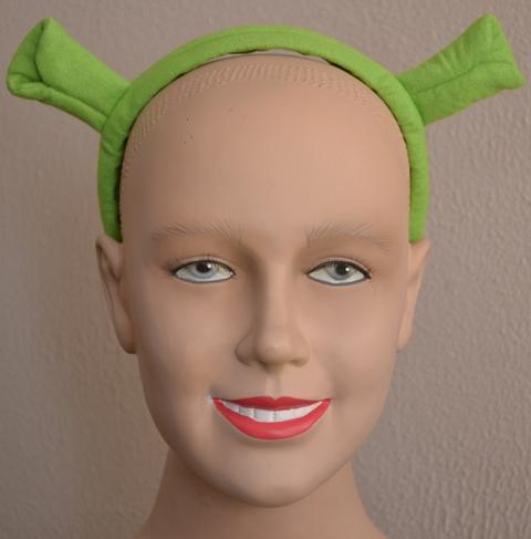 Shrek ears on headband