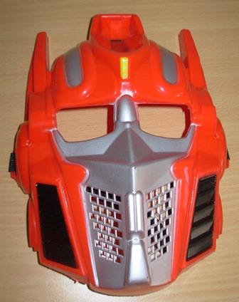 Red transformer mask