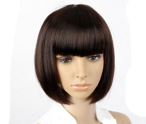 Dark brown bob wig