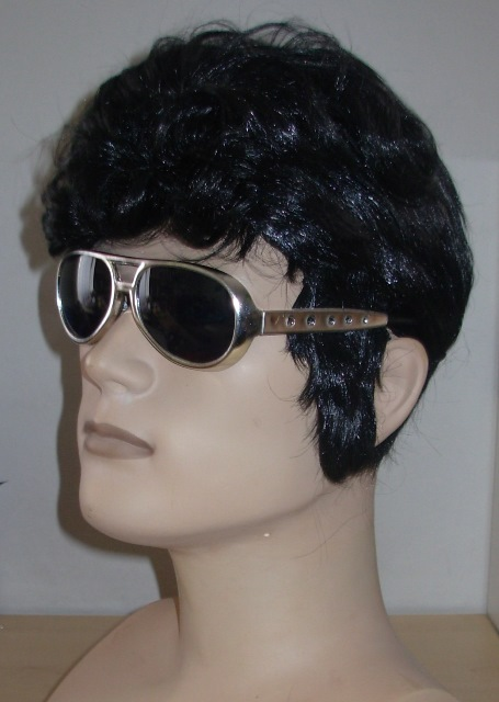 Wig with sideburns