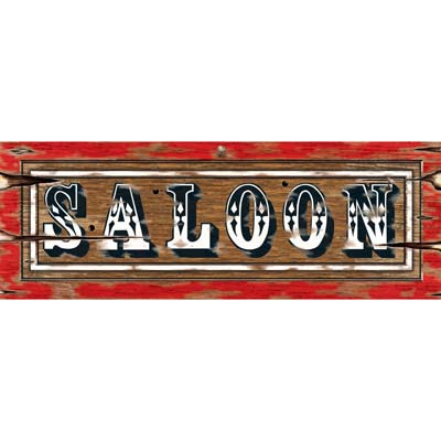 Western saloon sign