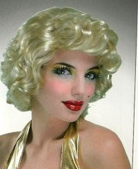 Blonde starlet curly wig