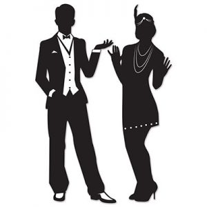 Great Gatsby silhouette decor