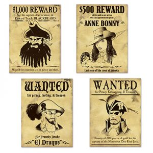 Pirate wanted posters