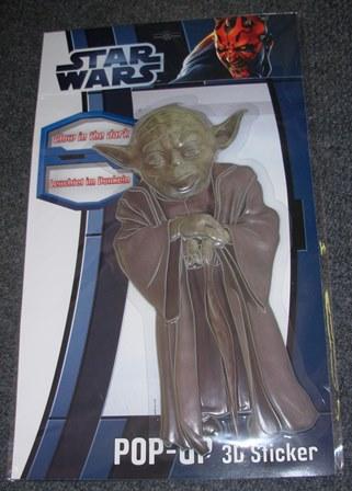 Pop-up sticker Yoda