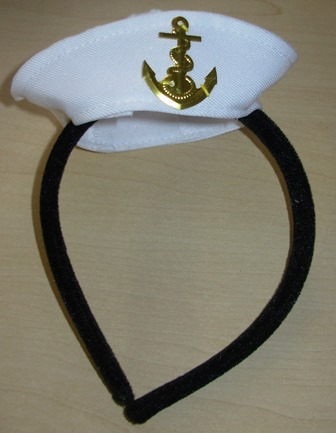 Mini sailors hat on headband