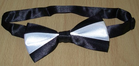 Black & white bowtie