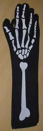Long Bone print gloves