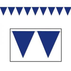 Blue pennant banner