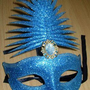 Blue glitter mask