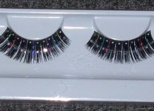 Black and colour streak lashes