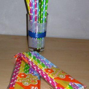 Polka dot straws