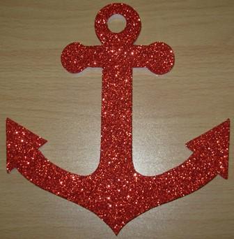 Red polystyrene anchor