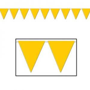 Yellow pennant banner