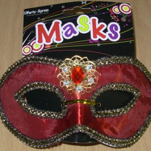 Mask deep red with detail