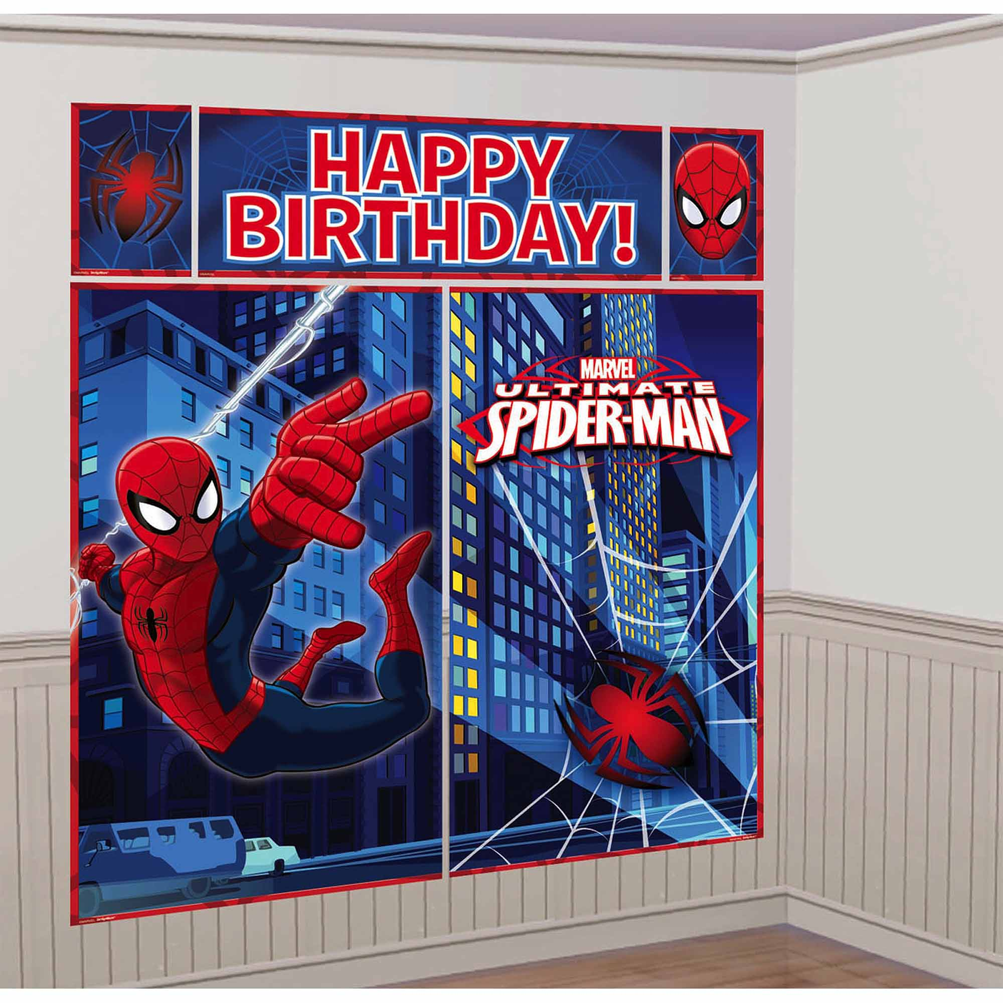 Spiderman scene setter decor