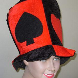 Velvet card hat