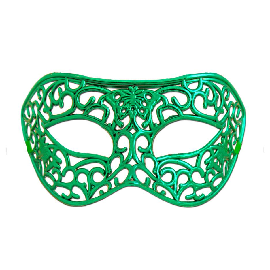 Filigree butterfly mask - green