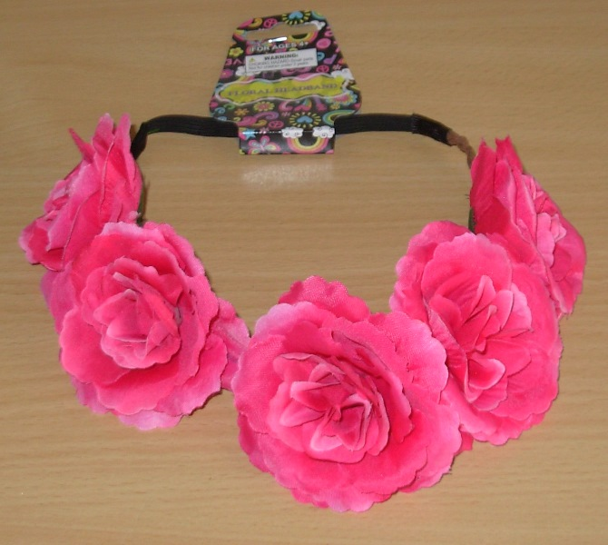 Pink flower headdress
