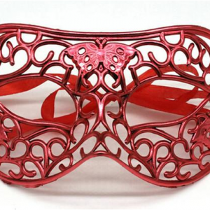Filigree butterfly mask -red
