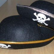 Felt childs pirate hats