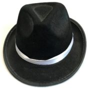 Mafia hat with white band