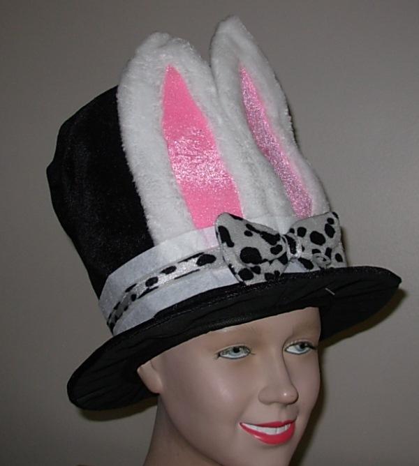 velvet top hat with bunny ears