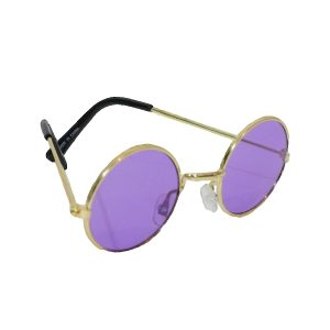 Purple hippie glasses