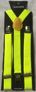 Neon yellow suspenders