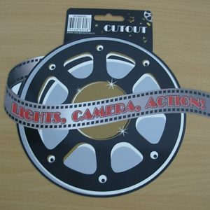 Film reel cutout