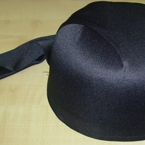 Black bandanna style pirate hat