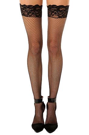 Fishnet thigh high stockings